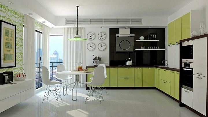 Cocina verde foto