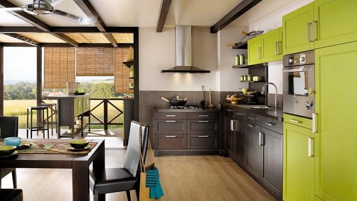 Cocina verde foto1