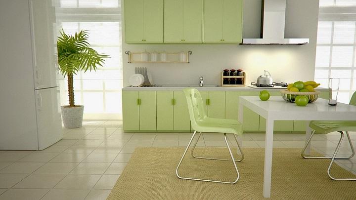 Cocina verde foto3