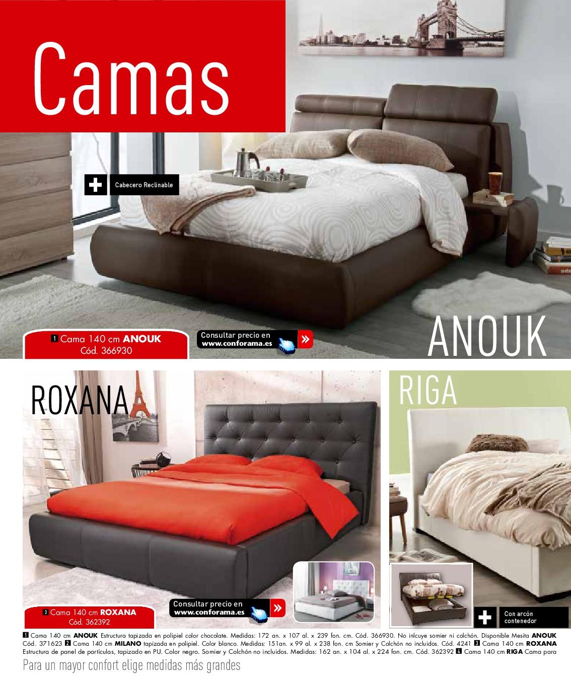 Descanso conforama 201642 for Camas y colchones