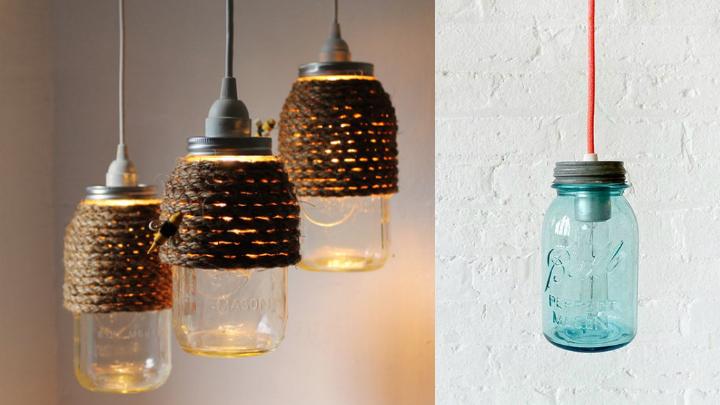 Mason Jar lamparas