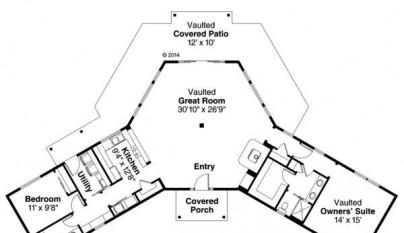 Plano de casa de 151 metros cuadrados2