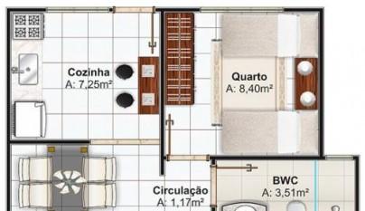 Plano de casa de 53 metros cuadrados2