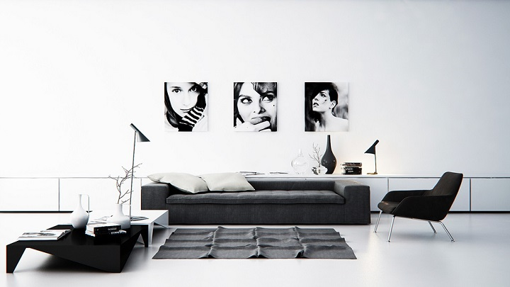 Fotos de salones en blanco y negro - Decoracion salon blanco y negro ...