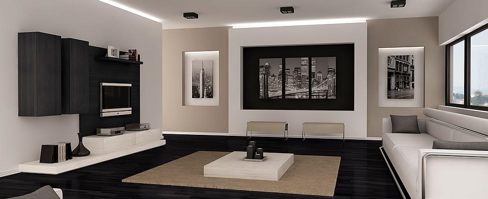 Blanco y negro salon2 - Salones en blanco y negro ...