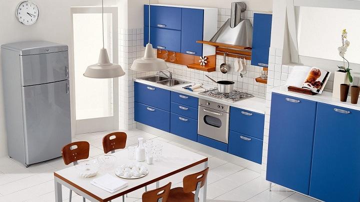 cocina azul foto