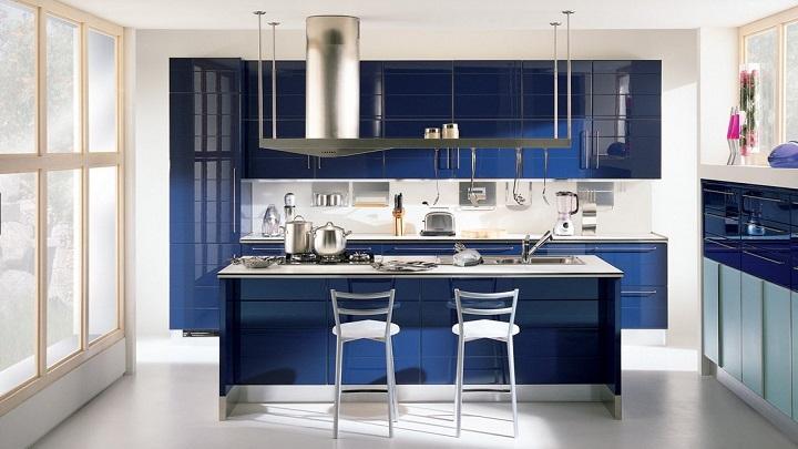 Fotos de cocinas de color azul - Cocinas azul tierra ...
