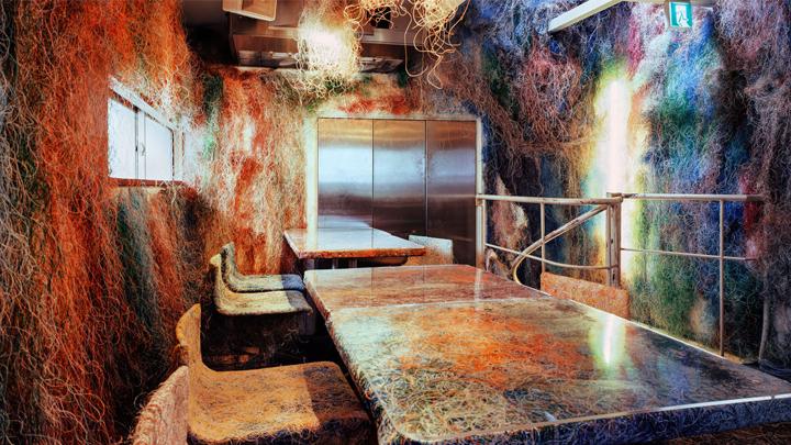 Baño Japones Granada:La decoración del bar Tetchan Yakitori es el ejemplo perfecto de que