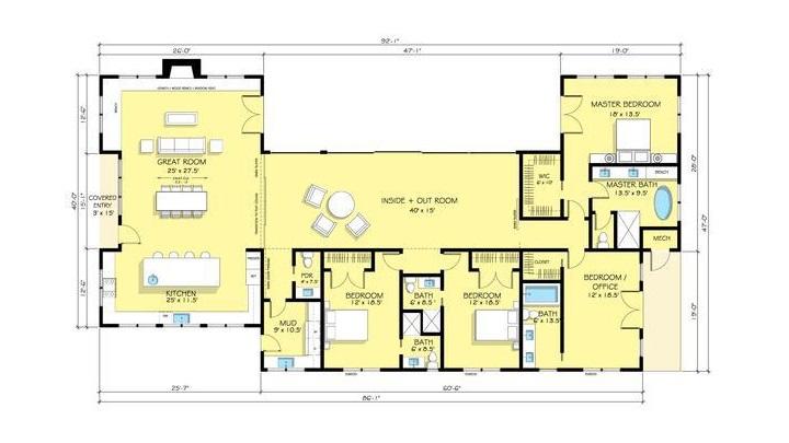 Planos de casas de una planta - Planos de casas de una planta ...