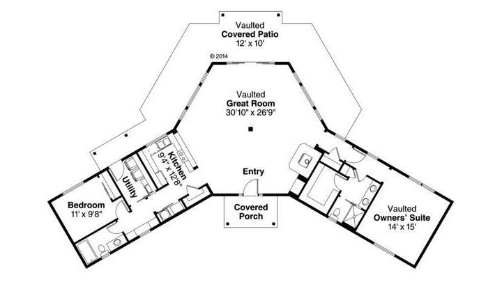 planos de casas en v