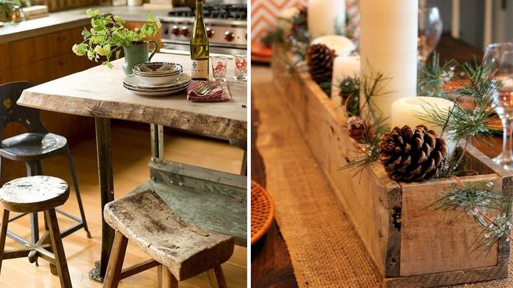 la tendencia raw en decoracion madera en bruto