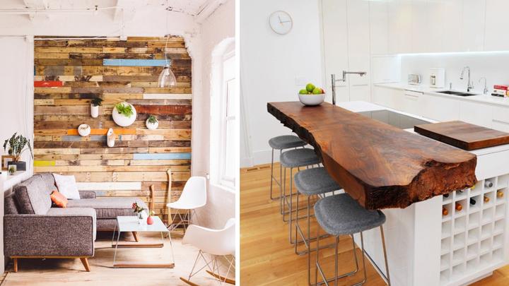 La tendencia raw en decoraci n madera en bruto - Decoracion de madera ...