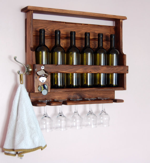 Botellero diy 11 - Botelleros de madera rusticos ...