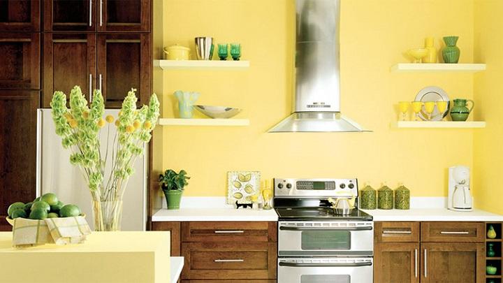 Cocina amarilla foto
