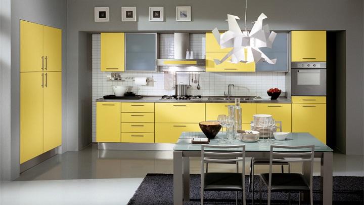 Cocina amarilla foto1