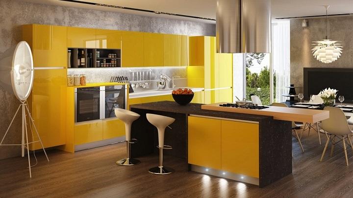 Cocina amarilla foto2