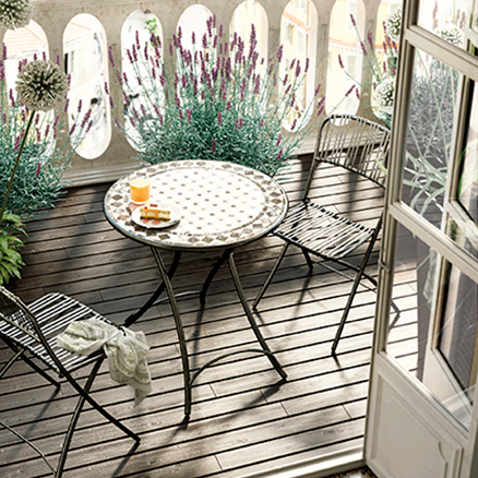 Conjuntos de muebles para balcon10 for Leroy merlin sillas jardin