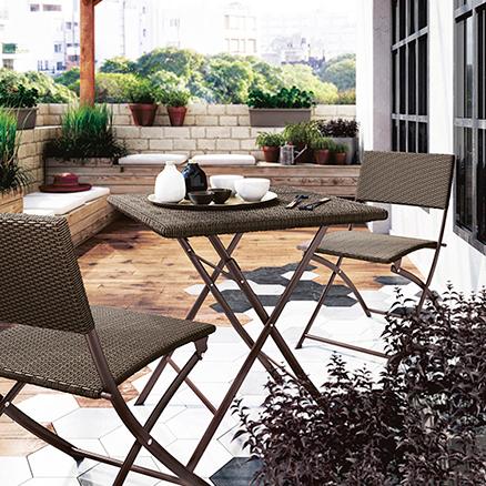 Conjuntos de muebles para balcon2 for Muebles de terraza leroy merlin