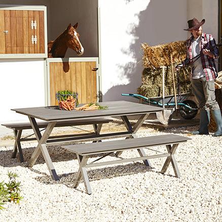 Conjuntos de muebles para comer13 - Mobiliario de terraza leroy merlin ...