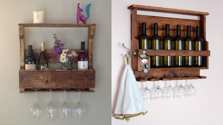 Botelleros hechos con pal s for Muebles de cocina vibbo
