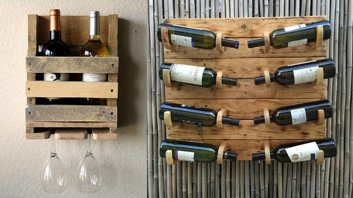 Botelleros hechos con pal s - Botelleros de madera para vino ...