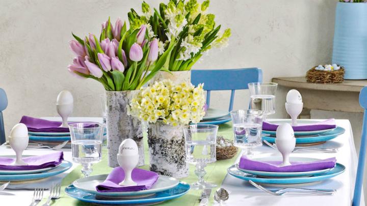 Decoracion mesas Pascua