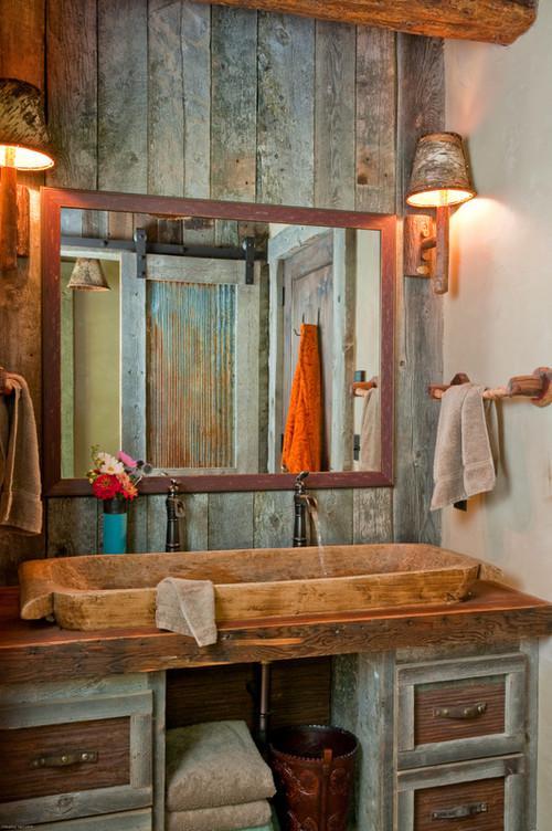 Ideas Baños Rusticos:Ideas para decorar baños rústicos pequeños (3/10)
