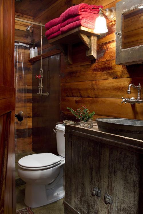 Iluminacion Para Baños Rusticos:Ideas para decorar baños rústicos pequeños (5/10)