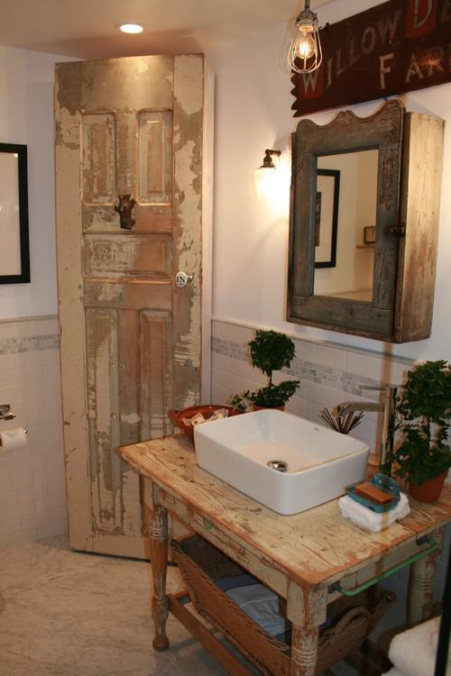 Baños Rusticos Ideas:Ideas para decorar baños rústicos pequeños (9/10)