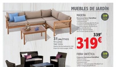 Muebles de jardin Carrefour3