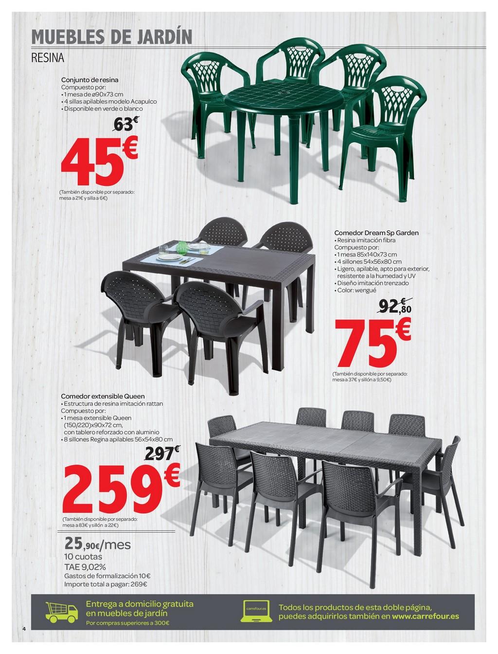 Muebles de jardin carrefour4 for Carrefour muebles de bano
