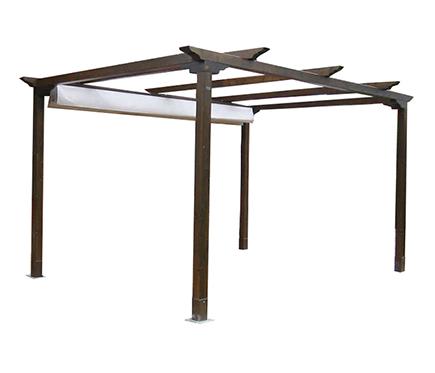 Pergolas de madera15 for Pergolas de madera para jardin leroy merlin