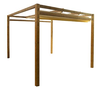 Pergolas de madera4 for Pergolas de madera para jardin leroy merlin