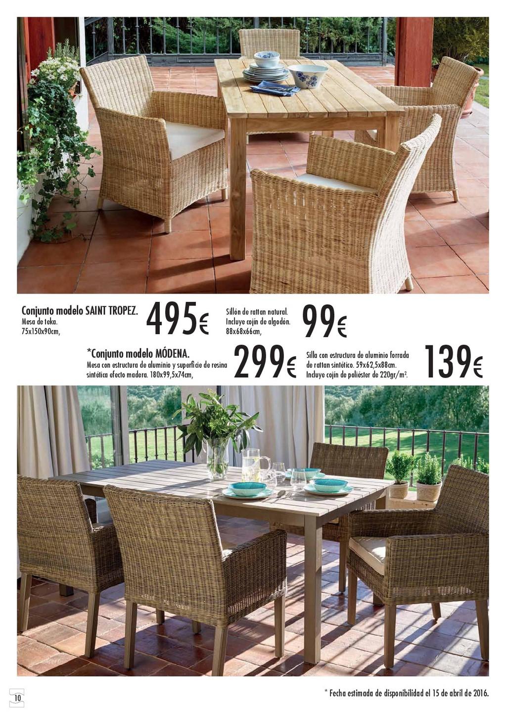 Terraza y jardin hipercor 201610 for Catalogo hipercor muebles jardin
