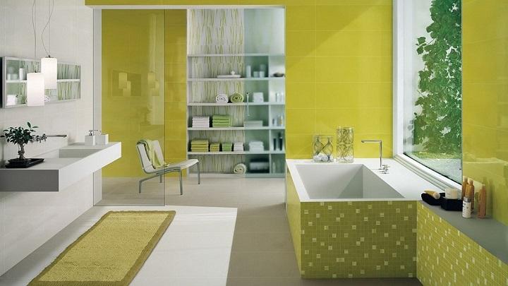 Imagenes De Baños Verdes:Fotos de baños de color verde