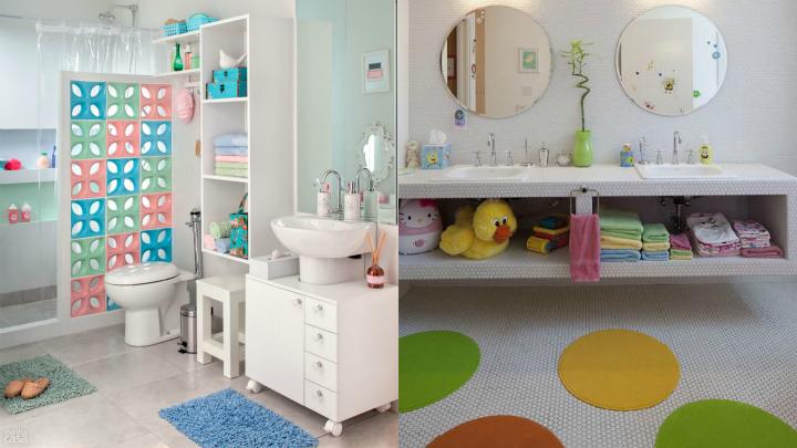 Ideas para un divertido cuarto de ba o para los ni os - Cuartos de bano para ninos ...