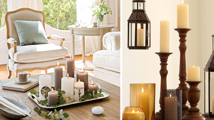 Decorar la casa con velas for Decorar jarrones con velas