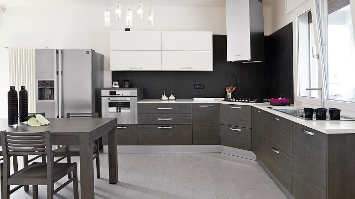 Dise os de cocinas modernas for Cocinas integrales en l pequenas