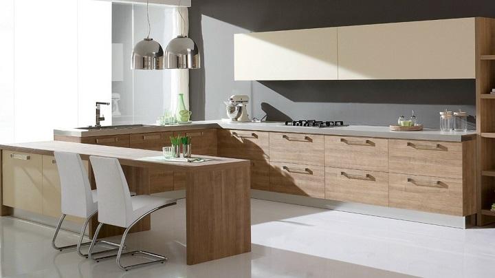 Dise os de cocinas modernas - Cocinas con peninsula ...