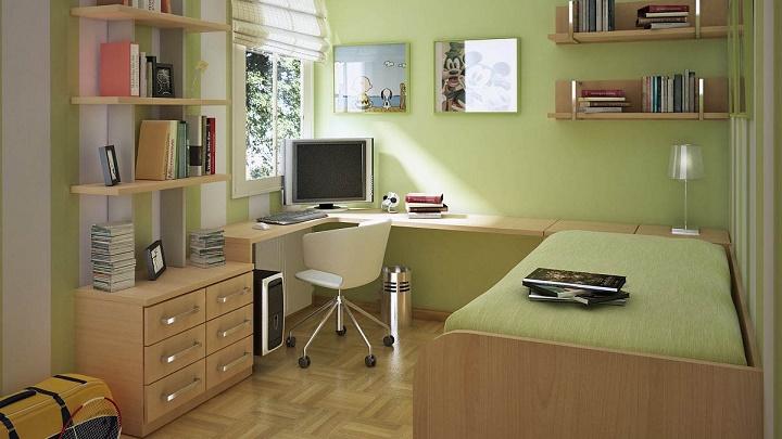 dormitorio peque verde