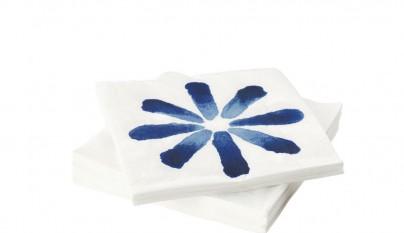 ikea-verano-2016-PE569478-sommar-servilleta-papel-disenadora-jennifer-idrizi-estampado-flor-azul-blanco-lowres