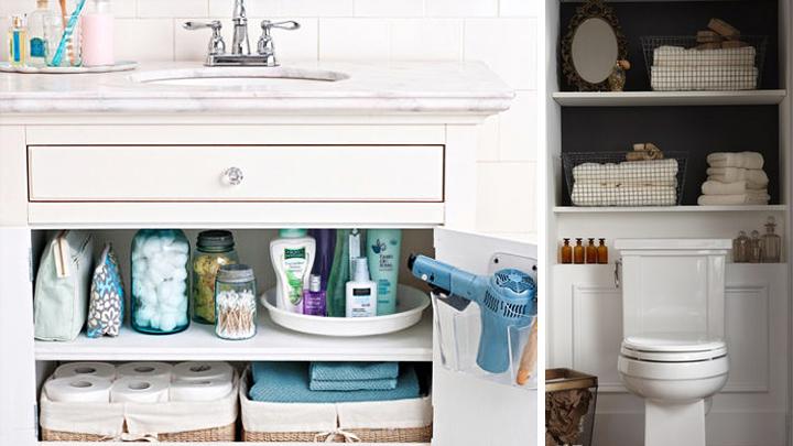 Ideas para organizar el cuarto de ba o for Como limpiar bien el bano