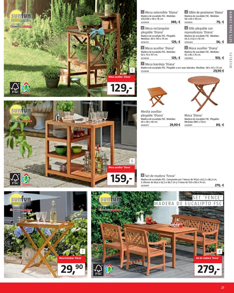 Bauhaus catalogo seleccion muebles jardin catalogo for Muebles de cocina worten