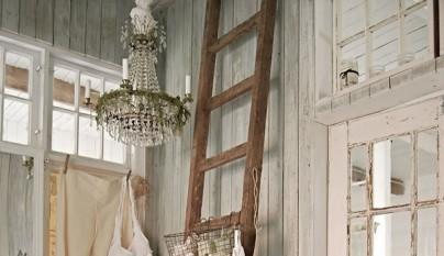 Decoraci n vintage con escaleras de madera - Escaleras de madera decoracion ...