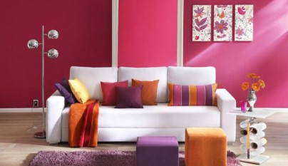 Ideas para pintar las paredes en colores vivos - Combinacion de colores para paredes de dormitorios ...