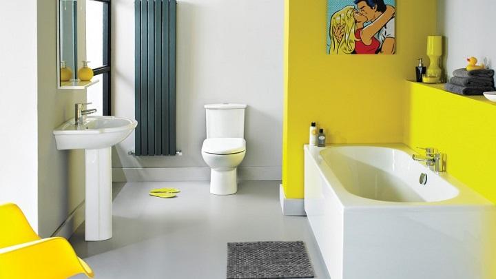 Baño Azulejos Amarillos ~ Dikidu.com