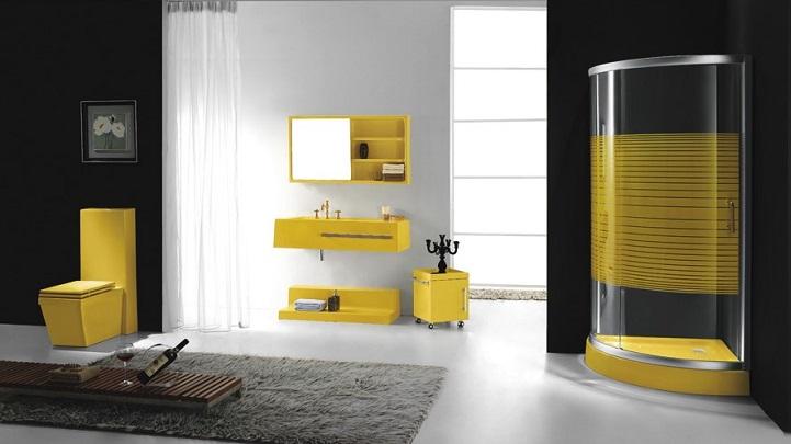 Baño Pintado De Amarillo:Fotos de baños de color amarillo