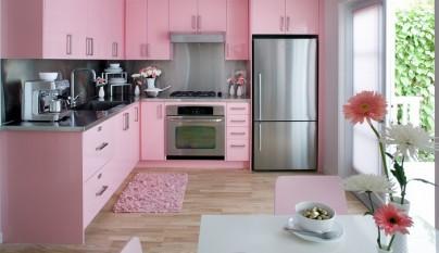 cocina rosa foto