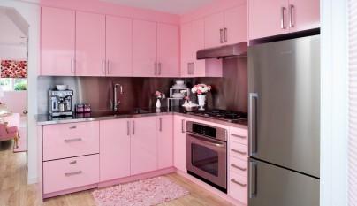 Fotos de cocinas de color rosa - Cocinas de color rosa ...