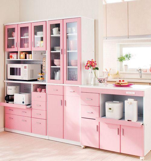 Cocina rosa12 - Cocinas de color rosa ...